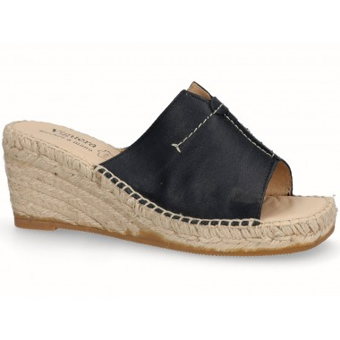 Clog with jute sole black