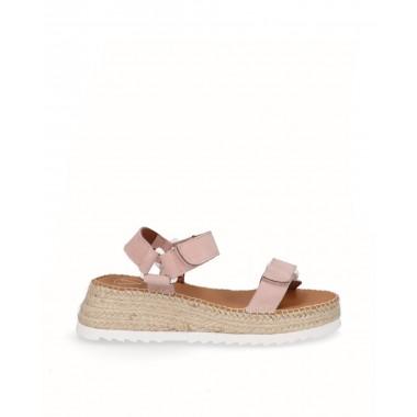 Espadrille sandal sport pink nubuck