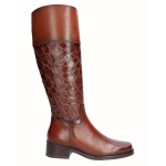 High heel boot engraved...